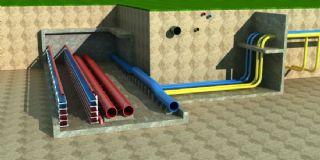 城市地下管道��O,排水管