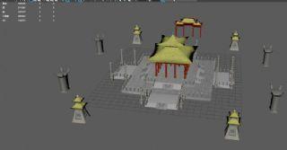 东海龙宫maya场景模型,mb,obj格式