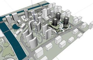 大江东城市规划模型