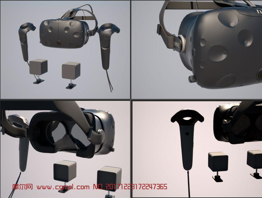 vr虚拟现实一体机htcvive原创高精度全套模型