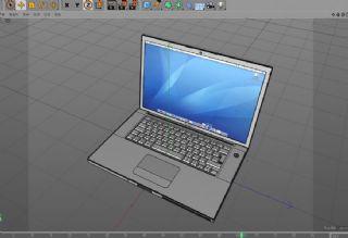 笔记本电脑 C4D模型