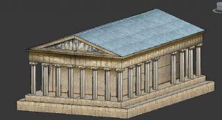 希腊简模小房子,神庙