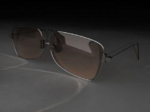 老款墨镜,眼镜mental ray渲染