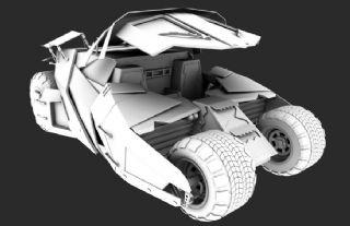 原创战车,影视剧中蝙蝠战车基础上加以创作