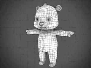 Q版小熊maya模型