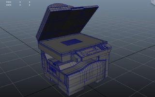 精细的打印机maya模型(有内部墨盒等结构)