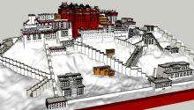 布达拉宫建筑su模型