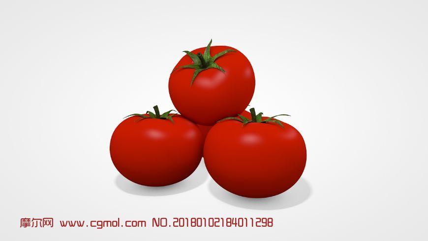 高精度番茄c4d模型