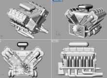 v8发动机,stp,3dm格式