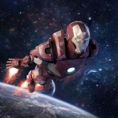 钢铁侠,复仇者联盟,Iron Man,无星空背景和火焰效果