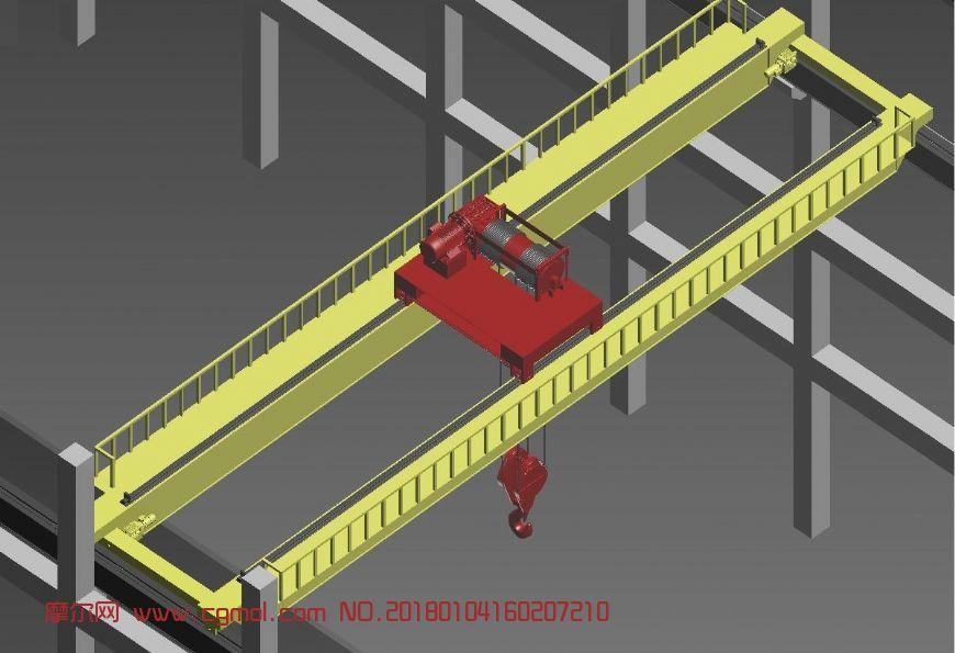 起重机,航车吊,运梁车max模型
