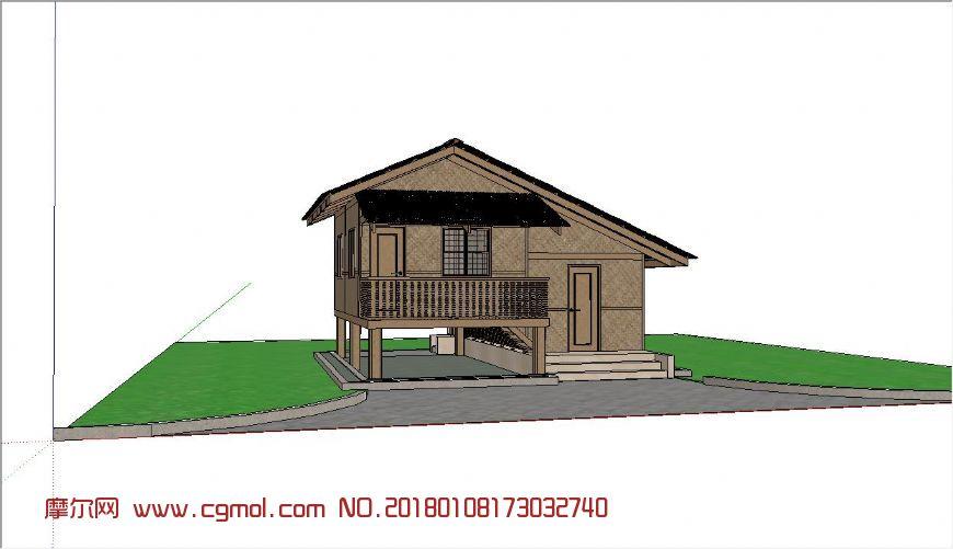 二层木屋,农家小屋