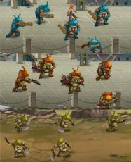 蛤蟆怪物,士兵,将军,boss三?#20013;?#24577;,带动作