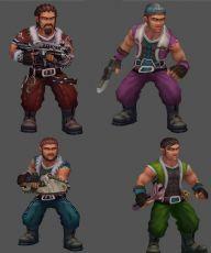 木厂工人,四种形态,普通,精英工人,带攻击,走路等动作