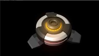 感应地雷maya模型