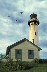 海边木屋+灯塔实景max模型