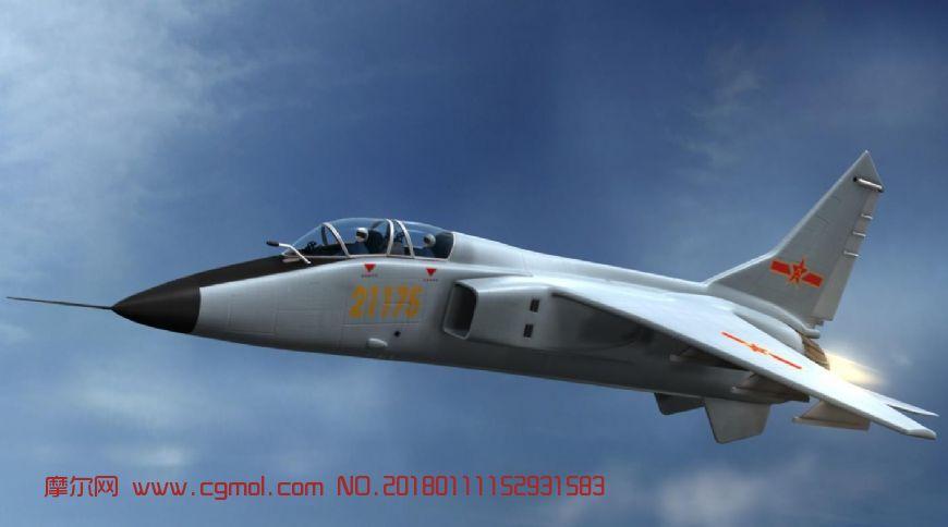 高精度国产飞豹飞机,教练机maya模型