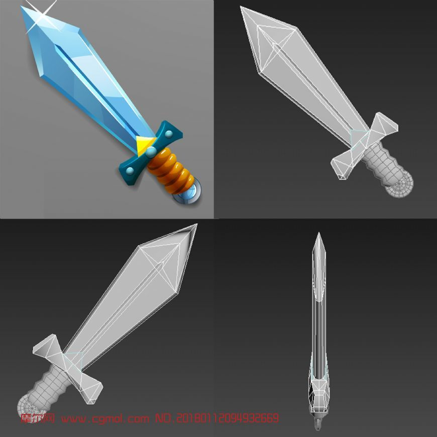 Q版武器――剑白模