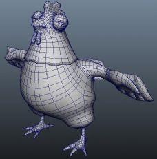 卡通公鸡maya模型