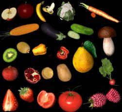19种水果蔬菜c4d模型,玉米,草莓,香菇,石榴等(网盘下载)