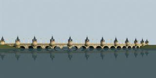 欧式环形桥梁
