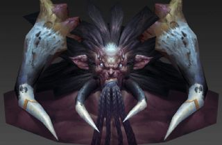 怪物半身max模型