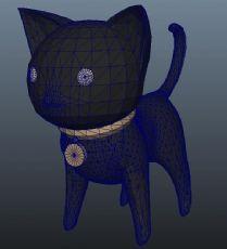 卡通黑猫maya模型