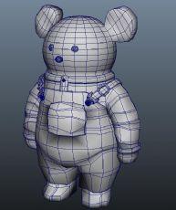卡通背带熊maya模型