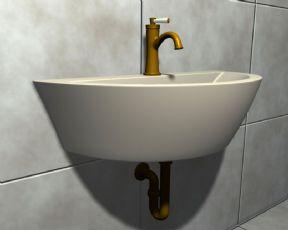 洗脸池maya模型