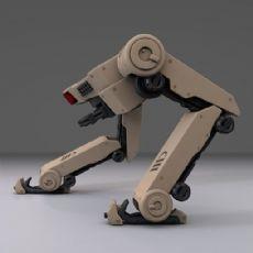 行走的战争机器人,c4d,max模型