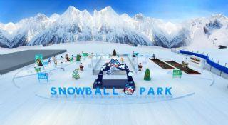 雪地活动,雪球公园max模型,无贴图