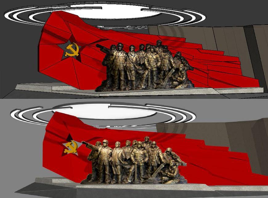 展厅--革命雕塑