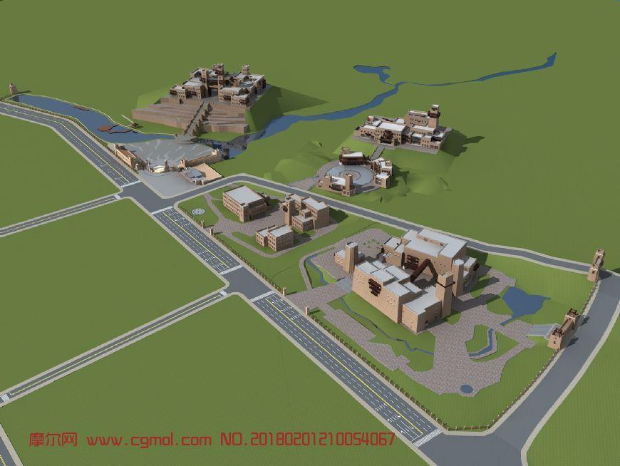 羌族建筑规划,城市规划