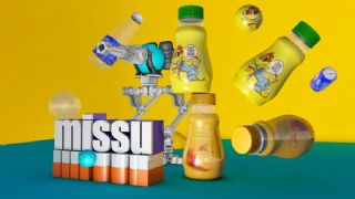 瓶子,饮料瓶,可乐+机器人组合C4D模型