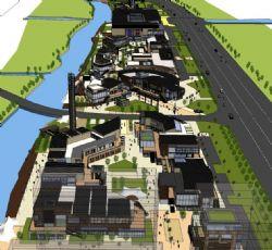 中式建筑-滨海城市规划