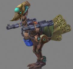 鸵鸟机枪兵max模型