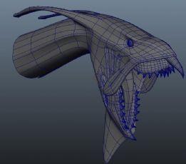 阿凡达中的飞鸟坐骑头部maya模型