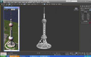 上海东方之珠,东方明珠max模型