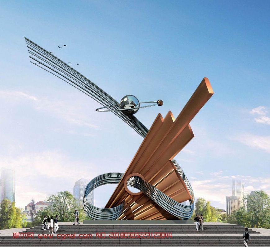 科技与文化雕塑