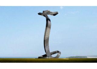 植物生长不锈钢雕塑max模型