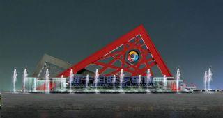 国际汽车城雕塑,无中文,无贴图