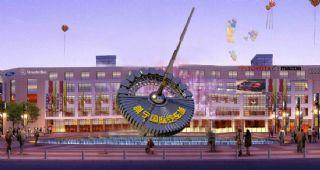 汽车城科幻元素雕塑设计