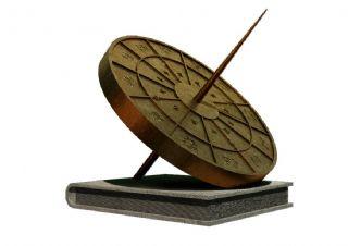 书本+日晷雕塑设计
