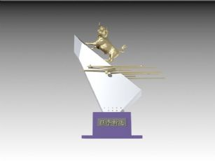 旺牛祈运-雕塑设计
