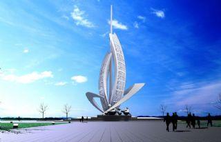 帆板景观雕塑设计