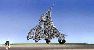 千帆颂歌-雕塑设计