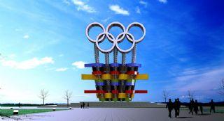 多彩奥运雕塑