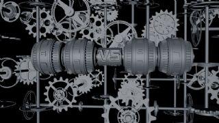 齿轮机械片头C4D模型