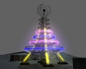 铁塔灯光秀maya作品