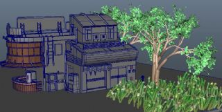 一��有草�龅�e墅maya模型